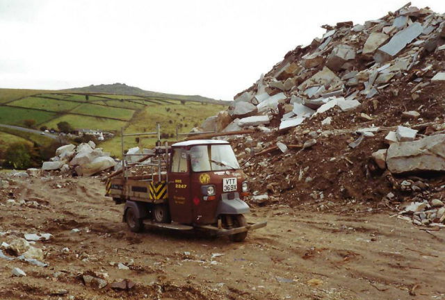 Piaggio with rail at Merrivale Quarry