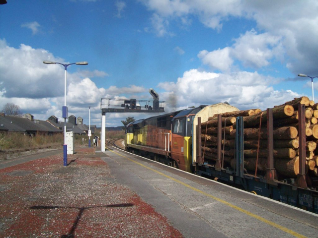 Timber train at Newton Abbot.