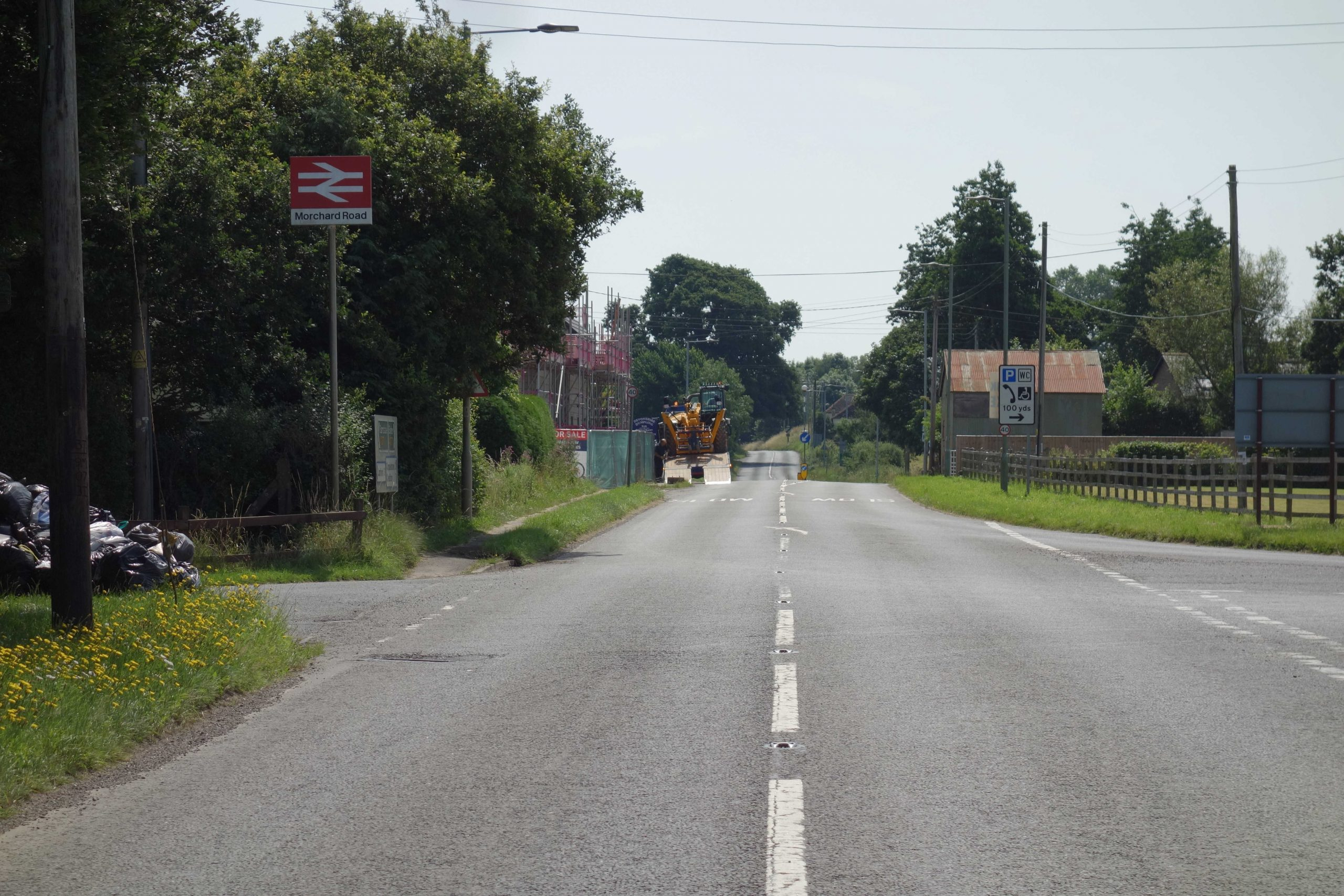 Exeter to Barnstaple turnpike at Morchard Road
